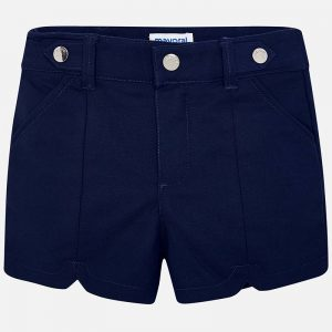 Mayoral Girls Satin Shorts Navy Front
