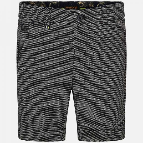 Mayoral Boys Tailored Linen Shorts Front
