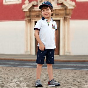 Mayoral Boys Jacquard Chino Shorts