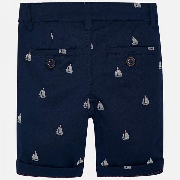 Mayoral Boys Jacquard Chino Shorts Back
