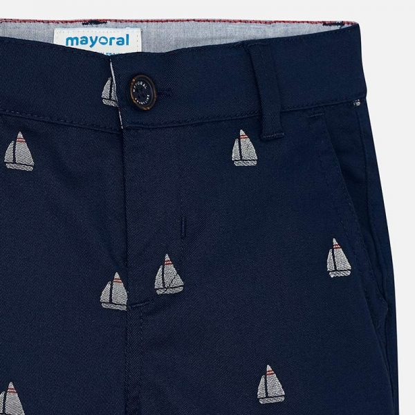 Mayoral Boys Jacquard Chino Shorts Closeup