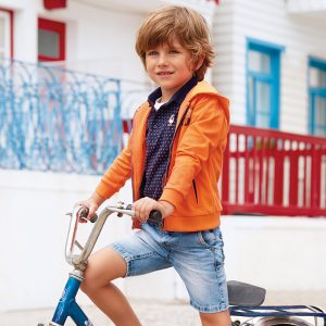 Mayoral Boys Denim Shorts with Belt