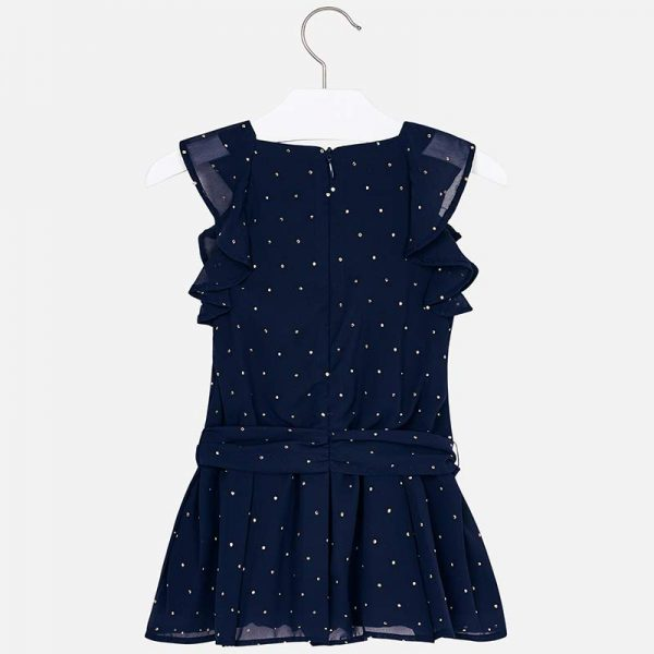 Mayoral Girls Chiffon Playsuit with Studs Back