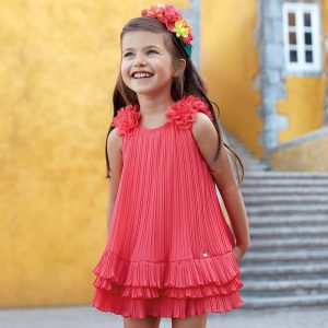 Mayoral Girls Pleated Dress