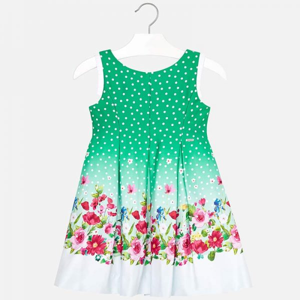 Mayoral Girls Flower Dress Front