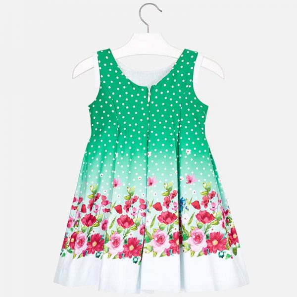 Mayoral Girls Flower Dress Back