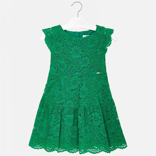 Mayoral Girls Lace Dress Front