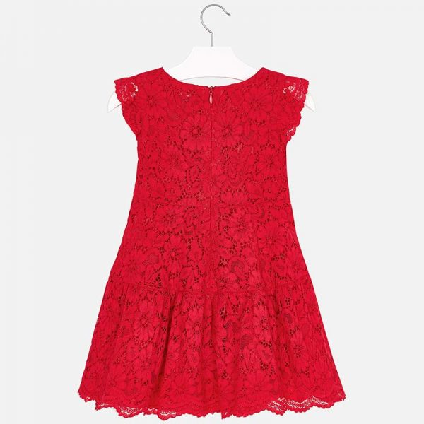 Mayoral Lace Dress Back