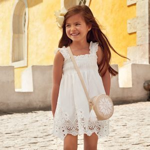 Mayoral Girls Embroidered Dress