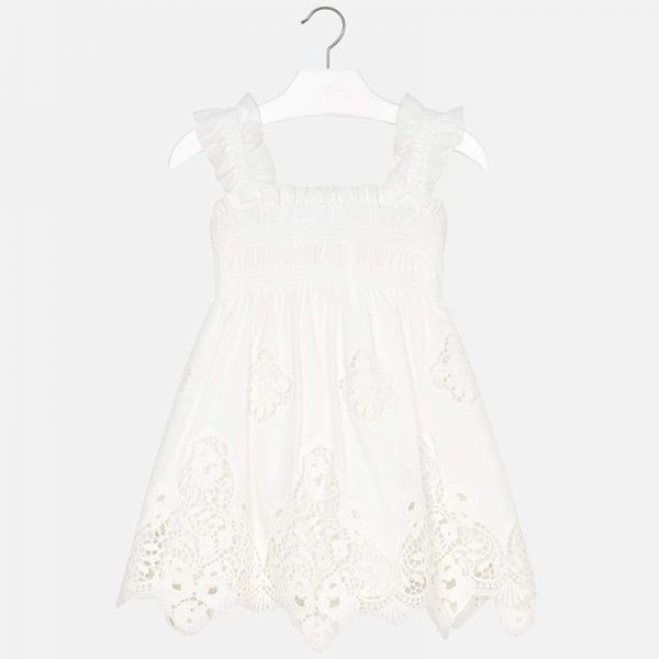 Mayoral Girls Embroidered Dress Front