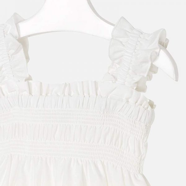 Mayoral Girls Embroidered Dress Closeup