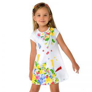Mayoral Girls Printed Dress